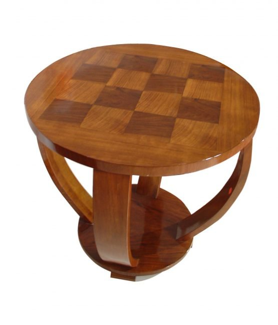 Art Deco Table with Checkerboard
